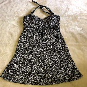Kim Rogers Printed Halter Dress